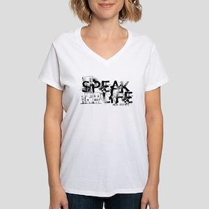 Women's Basic Logo V-Neck T-Shirt
