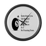 8 Ball Large Wall Clock