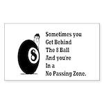 8 Ball Sticker (Rectangle 50 pk)