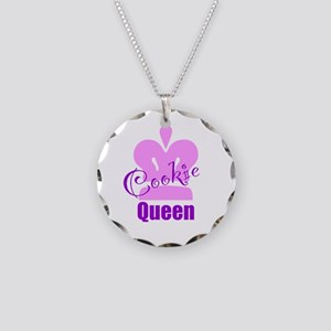Cookie Queen Necklace Circle Charm