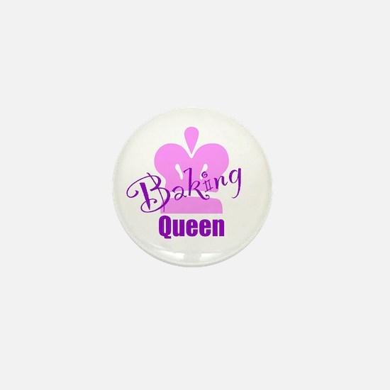 Baking Queen Mini Button