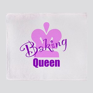Baking Queen Throw Blanket