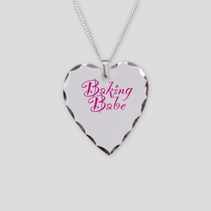 Baking Babe Necklace Heart Charm