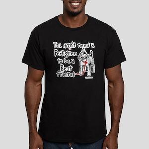 No Pedigree Needed Men's Fitted T-Shirt (dark)