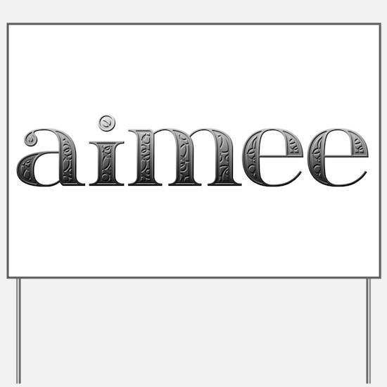 Aimee Carved Metal Yard Sign
