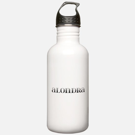 Alondra Carved Metal Sports Water Bottle