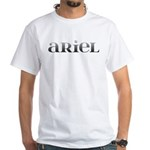 Ariel Carved Metal White T-Shirt
