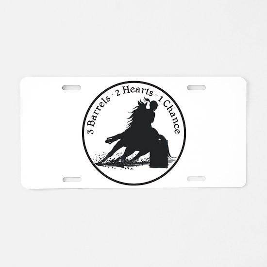 Three Barrels Aluminum License Plate
