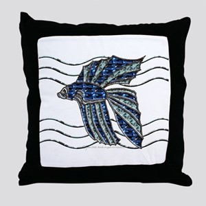 Beta Fish Throw Pillow
