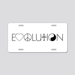 Evolution Values Aluminum License Plate
