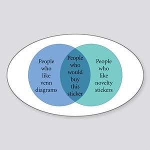I like Venn Sticker (Oval)