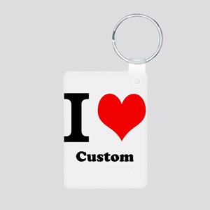 Custom Love Aluminum Photo Keychain