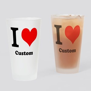 Custom Love Drinking Glass