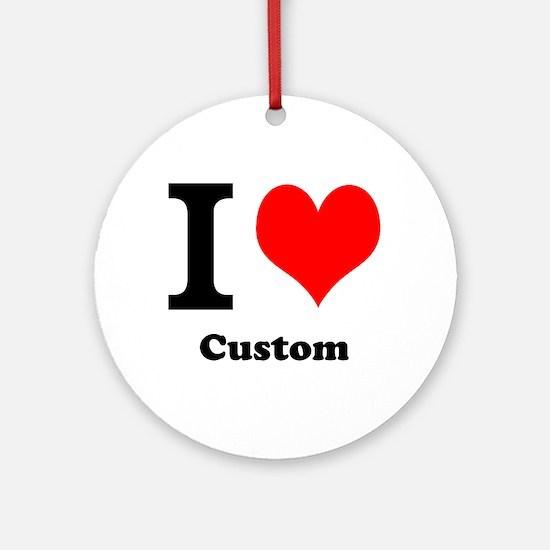 Custom Love Ornament (Round)