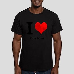 Custom Love Men's Fitted T-Shirt (dark)