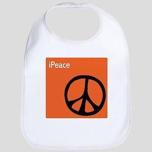 Orange iPeace Sign Bib