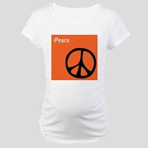 Orange iPeace Sign Maternity T-Shirt
