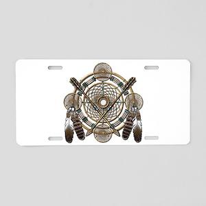 Dreamcatcher Medicine Wheel Aluminum License Plate