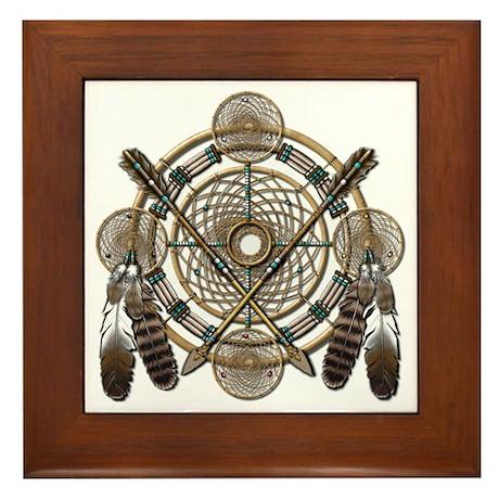Dreamcatcher Medicine Wheel Framed Tile