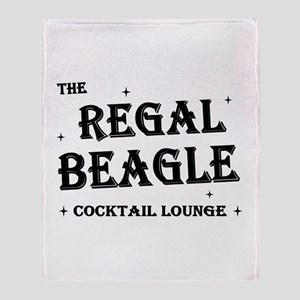 The Regal Beagle Throw Blanket