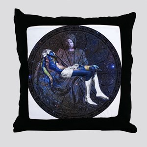 The Pietà by Michelangelo in Throw Pillow