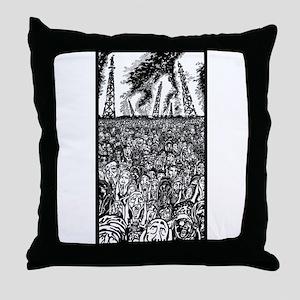 evolve or dissolve Throw Pillow