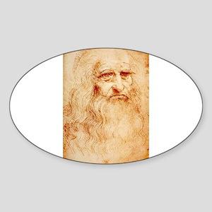 Self protrait of Leonardo Da Sticker (Oval)