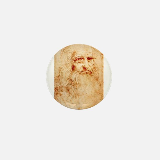 Self protrait of Leonardo Da Mini Button