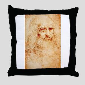 Self protrait of Leonardo Da Throw Pillow