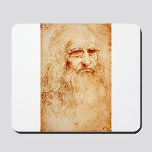 Self protrait of Leonardo Da Mousepad