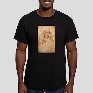 Self protrait of Leonardo Da Men's Fitted T-Shirt