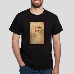Self protrait of Leonardo Da Dark T-Shirt