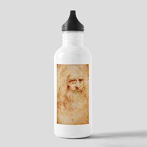 Self protrait of Leonardo Da Stainless Water Bottl