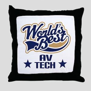 AV Tech Gift (Worlds Best) Throw Pillow