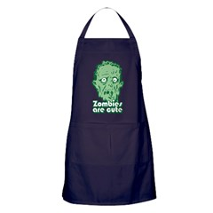 Zombies Are Cute Apron (dark)