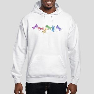 Rainbow Dragonflies Hooded Sweatshirt