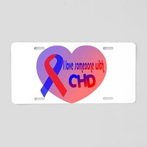 Heart CHD Aluminum License Plate