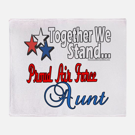 Proud Air Force Aunt Throw Blanket