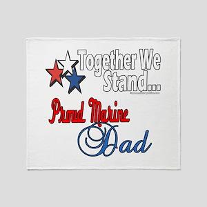 Marine Daddy Throw Blanket