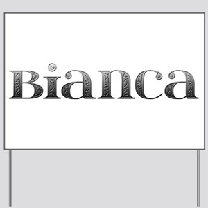Bianca Carved Metal Yard Sign