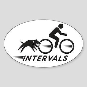 Big Dog Intervals Sticker (Oval)