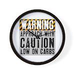 Warning - low on carbs Wall Clock