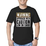 Warning - low on carbs Men's Fitted T-Shirt (dark)