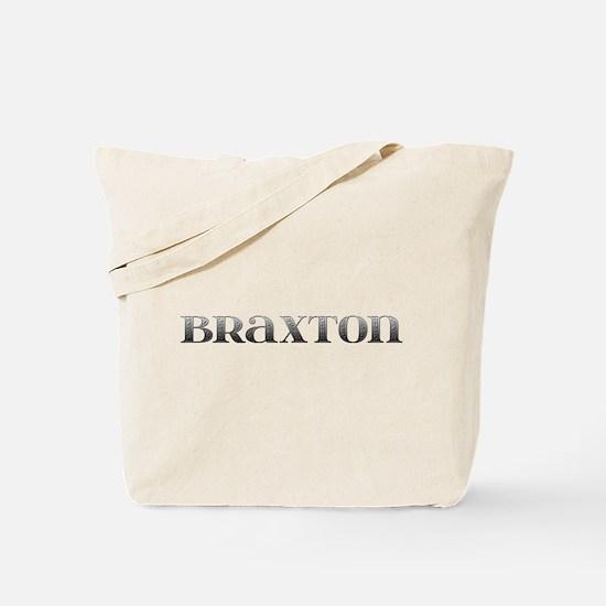 Braxton Carved Metal Tote Bag