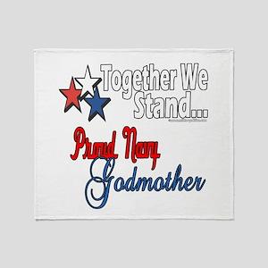 Navy Godmother Throw Blanket