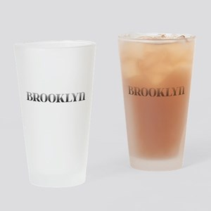 Brooklyn Carved Metal Drinking Glass