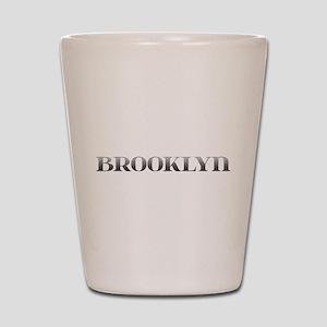 Brooklyn Carved Metal Shot Glass