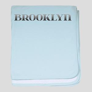 Brooklyn Carved Metal baby blanket