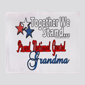 National Guard Grandma Throw Blanket