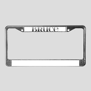 Bruce Carved Metal License Plate Frame